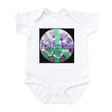 Pray For Peace Angelic Flower Infant Bodysuit