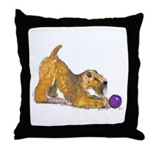 Soft Coated Wheaten Terrier with Ball Throw Pillow