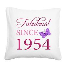 Fabulous Since 1954 Square Canvas Pillow