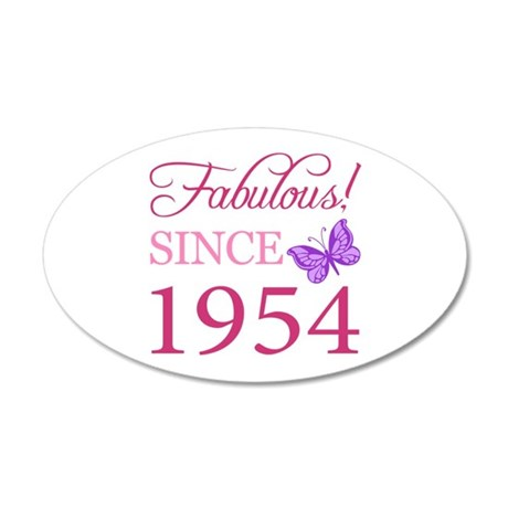 Fabulous Since 1954 20x12 Oval Wall Decal