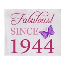 Fabulous Since 1944 Throw Blanket