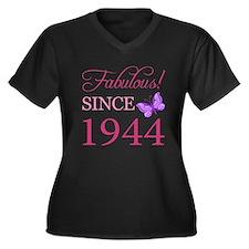 Fabulous Since 1944 Women's Plus Size V-Neck Dark