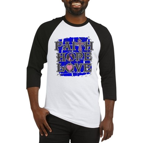 Male Breast Cancer Faith Hope Love Baseball Jersey
