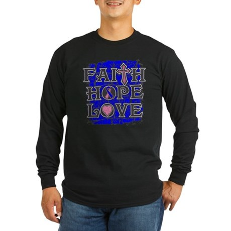 Male Breast Cancer Faith Hope Love Long Sleeve Dar