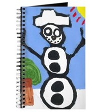 Winter Sun Snowman Journal