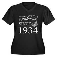 Fabulous Since 1934 Women's Plus Size V-Neck Dark