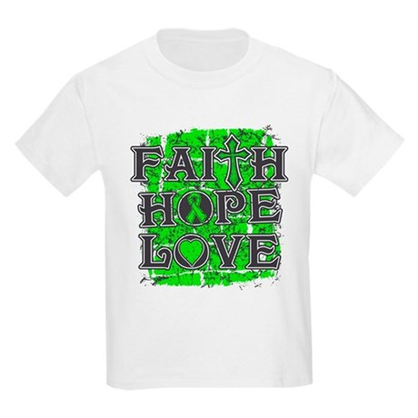 Lymphoma Faith Hope Love Kids Light T-Shirt