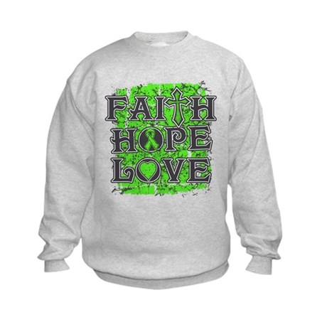 Lymphoma Faith Hope Love Kids Sweatshirt