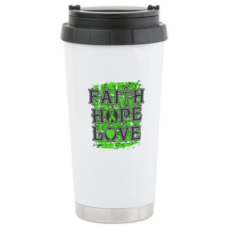 Lymphoma Faith Hope Love Stainless Steel Travel Mu