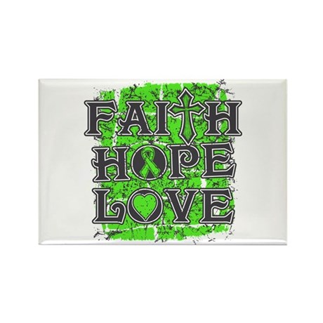 Lymphoma Faith Hope Love Rectangle Magnet