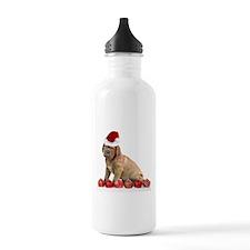 Christmas Dogue de Bordeaux puppy Water Bottle