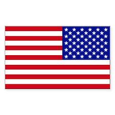 Reversed USA Flag Sticker (Rectangle 10 Pk)