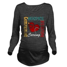 Hospice Nurse Long Sleeve Maternity T-Shirt