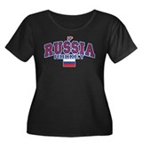 RU Russia/Rossiya Hockey Women's Plus Size Scoop N