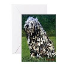 Bergamasco Dog Greeting Cards