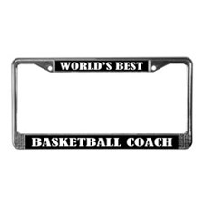 Basketball Coach (Worlds Best) License Plate Frame