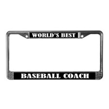 Baseball Coach License Plate Frame