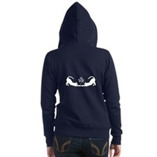 Cats Stretching with Lotus Zip Hoodie