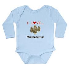 I Love Mushrooms Long Sleeve Infant Bodysuit