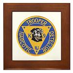 New Jersey State Police K-9 Framed Tile
