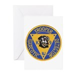 New Jersey State Police K-9 Greeting Cards (Packag