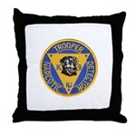 New Jersey State Police K-9 Throw Pillow