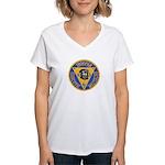 New Jersey State Police K-9 Women's V-Neck T-Shirt