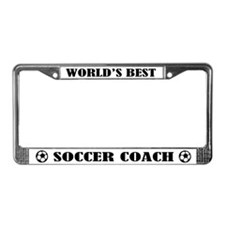 Worlds Best Soccer Coach License Plate Frame