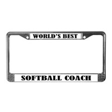 Softball Coach License Plate Frame