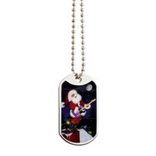 Santa plays guitar by Doug LaRue Dog Tags