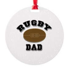 Rugby Dad Ornament