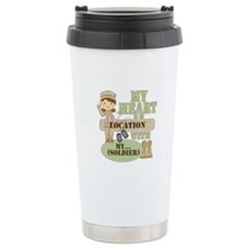 Heart With Soldier Travel Mug