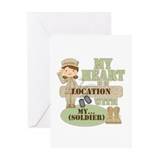 Heart With Soldier Greeting Card