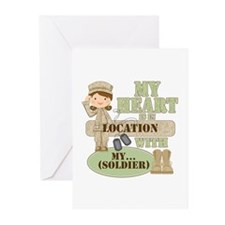 Heart With Soldier Greeting Cards (Pk of 20)