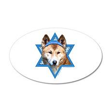 Hanukkah Star of David - Dingo 20x12 Oval Wall Dec