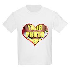 Custom Heart Photo T-Shirt