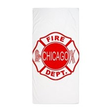 Chicago Firedepartment Beach Towel