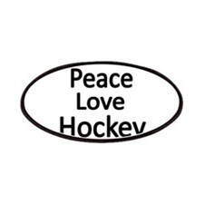 Peace,Love,Hockey Patches