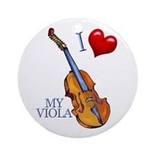 I Love My VIOLA Ornament (Round)