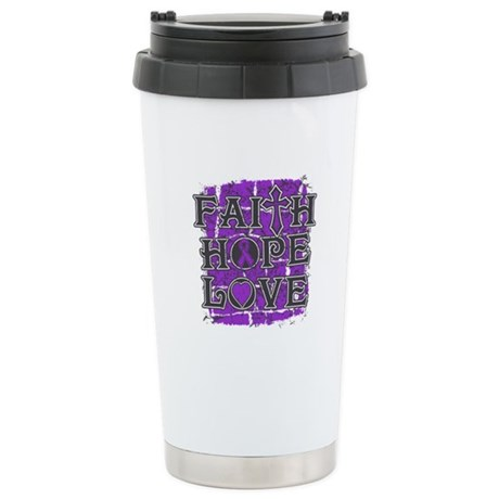 Lupus Faith Hope Love Stainless Steel Travel Mug