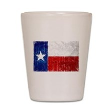 Texas Flag Distressed Shot Glass