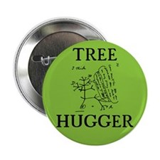 Tree Hugger 2.25-Inch Button