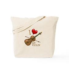 I Love My VIOLIN Tote Bag