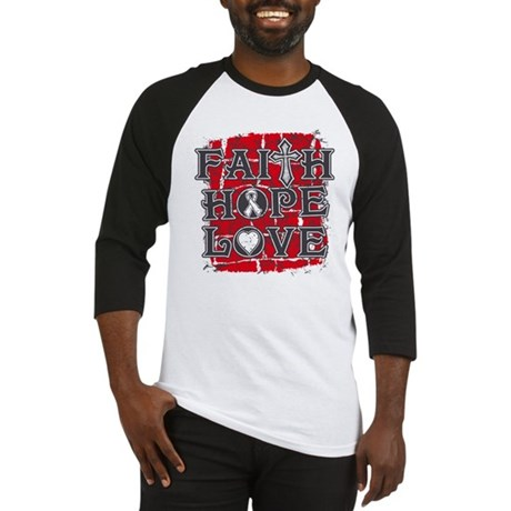 Lung Cancer Faith Hope Love Baseball Jersey