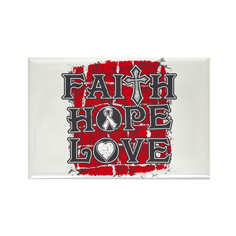 Lung Cancer Faith Hope Love Rectangle Magnet