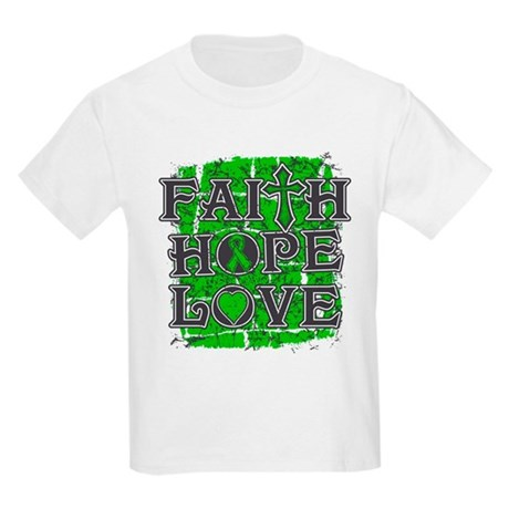 Kidney Disease Faith Hope Love Kids Light T-Shirt