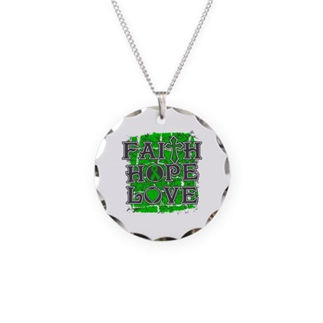 Kidney Disease Faith Hope Love Necklace Circle Cha