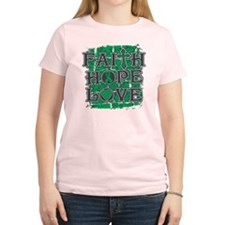 Liver Cancer Faith Hope Love T-Shirt