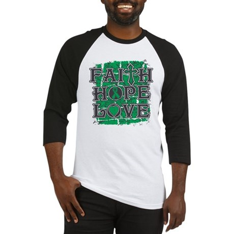 Liver Cancer Faith Hope Love Baseball Jersey