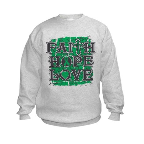 Liver Cancer Faith Hope Love Kids Sweatshirt